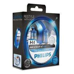 SET H4 ColorVision Blue ΚΑΙΝ. PHILIPS 36793528 MITSUBISHI Ca...