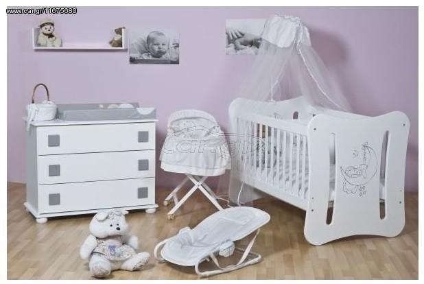 93983cae293 Αστερίας Bebe Κέρκυρα κούνια μετατρεπόμενη σε παιδικό κρεβάτι με δυνατότητα  επιλογής χρωμάτων Παλιά Σχεδίαση