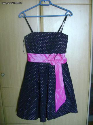 d314ccdfa45 Φόρεμα βραδινό, μαύρο με ροζ πουά Forel - € 20 EUR - Car.gr
