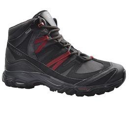 d2d160e2b8e Αδιάβροχα ανδρικά ορειβατικά μποτάκια Salomon Shindo Mid GTX Gore-Tex Black  399674