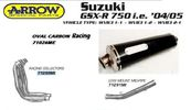 SUZUKI GSXR 600/750 04-05  ARROW OVAL CARBON SILENCER ΑΠΌ 96...