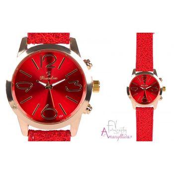 Πωλείται Γυναικείο ρολόι χειρός με κόκκινο λουρί by Amaryllidas Art  collection - 22448 - € 12 9fedccef47d
