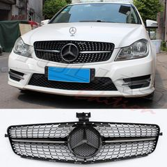 MERCEDES BENZ  C CLASS W204 BLACK DIAMOND SPORT GRILLE / ΜΑΣ...