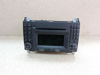 RADIO CD,MERCEDES-BENZ A-CLASS W169, PRE-FACELIFT, 2006-2008...