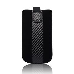 Forcell Case Carbon για iPhone 3G/4G/4S Galaxy Ace (S5830) – Μαύρο