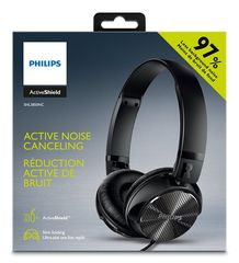 Philips Ακουστικά Noise-Cancelling On-Ear Headphones - Μαύρο - SHL3850NC