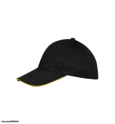 e1fc39fb3b8b Sol s Buffalo 88100 Εξάφυλλο καπέλο τζόκεϊ 100% χοντρό βαμβάκι χνουδιασμένο  260gr - BLACK YELLOW - 984 Παλιά Σχεδίαση