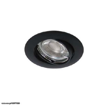 Φωτιστικό spot οροφής ROL 2 χωνευτό στρογγυλό αλουμινίου μαύρο ματ με ντουί  GU5.3  f3560afe1c2