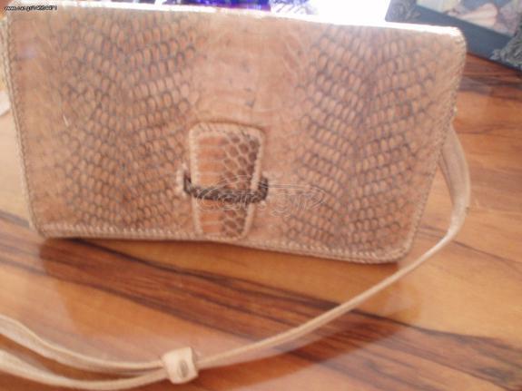 673fd4cc49 Τσάντα γυναικεία από γνήσιο φίδι και δέρμα - € 35 EUR - Car.gr