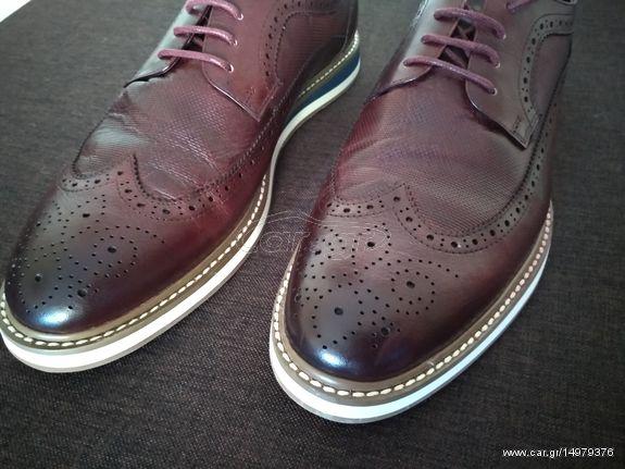 PRIVE Oxford ανδρικά παπούτσια ΓΝΗΣΙΟ ΔΕΡΜΑ 43 νούμερο και δώρο ανδρικό  αμάνικο Παλιά Σχεδίαση 9eb1dede252