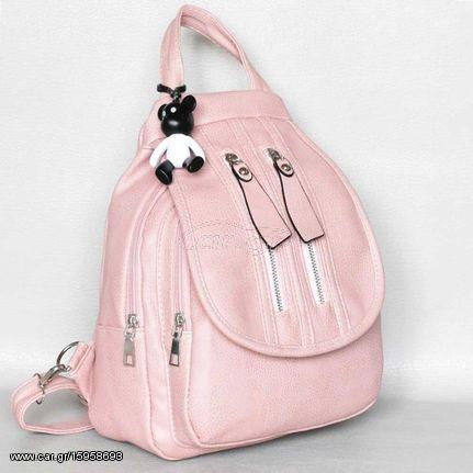 Γυναικεία Δερματινη Τσάντα Πλάτης Ροζ - € 36 EUR - Car.gr aff5c01319d