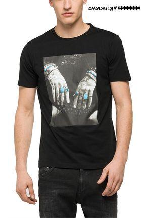 a1f5dc82bed Replay ανδρικό photo print T-shirt μαύρο - m3266-000-2660-098 - € 31,50 -  Car.gr