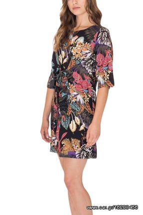 f6a5f6cc1939 Pepaloves Jungle print μίνι φόρεμα - 108663 - € 33 EUR - Car.gr
