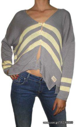 11a7d43396ed Agel Knitwear ασύμμετρο πλεκτό ζακετάκι ανοιχτό γκρι - s15417-gr Παλιά  Σχεδίαση