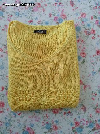 743a3e4518a9 Μπλούζα Γυναικεία πλεκτή χρώματος κίτρινου. νουμερο 1. - € 10 EUR ...