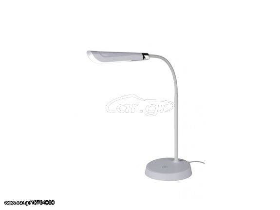 Grundig Μοντέρνο Εύκαμπτο LED Φωτιστικό Γραφείου 4.5w 48cm Θερμοκρασίας 6000 6500K με USB και Μπαταρίες σε Λευκό χρώμα Grundig € 19,95 Car.gr