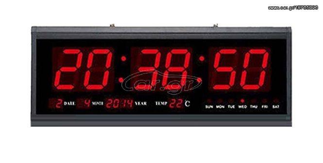 Μεγάλο Ψηφιακό Ρολόι Τοίχου - Πινακίδα LED με Θερμόμετρο και Ημερολόγιο  Jumbo Clock TL4819! - Jumbo Clock Παλιά Σχεδίαση 1034df4040b
