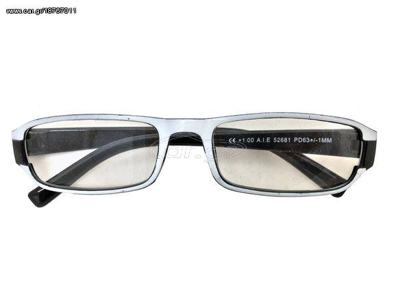 b11e877f7d Fashion Zone Unisex Γυαλιά Πρεσβυωπίας Διαβάσματος με Λεπτό Μαύρο-Λευκό  σκελετό και βαθμό +3.00