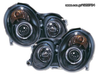 Headlights Mercedes CLK (Typ W208) black chrome