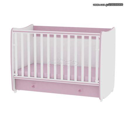 af1944012db Βρεφικό κρεβάτι Lorelli Dream 60x120 μετατρεπόμενο White Pink ...
