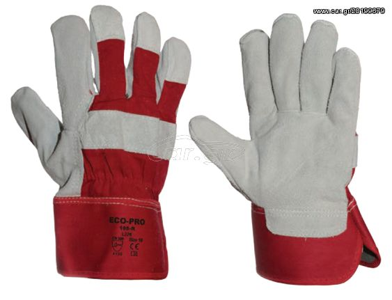b70aca64a1 Ecopro No105-R Δερματοπάνινα Γάντια Προστασίας (Νούμερο 10) Παλιά Σχεδίαση