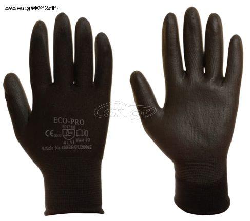 d86f14d0a8 Ecopro No400-B-9 Polyester-PU Γάντια Προστασίας Γενικής Χρήσης (Νούμερο 9) Παλιά  Σχεδίαση