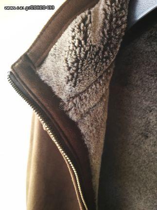 μπουφάν ζεστό σουέτ καφέ έξω συνθετική γούνα μέσα - € 50 EUR - Car.gr 4bfee9e5310