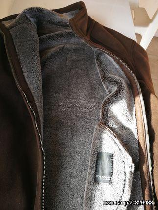 μπουφάν ζεστό σουέτ καφέ έξω συνθετική γούνα μέσα Old Design. Previous 873cc451260
