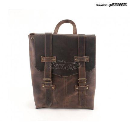 c14e26ef71 Γυναικείο Δερμάτινο Σακίδιο Πλάτης Model 170 - Καφέ Σκούρο Δέρμα Ά Ποιότητα  Παλιά Σχεδίαση