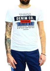 aa92b6669097 Ανδρικό T-shirt Tom Tailor Nos with Print White