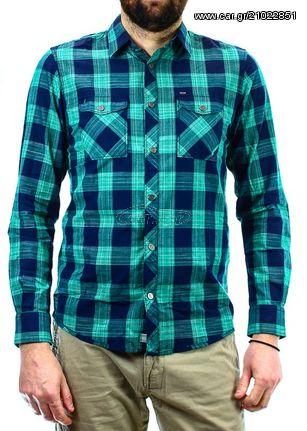 4c791e81b254 Ανδρικό Πουκάμισο Tom Tailor Ray Slub Check Shirt Green - € 55 EUR ...