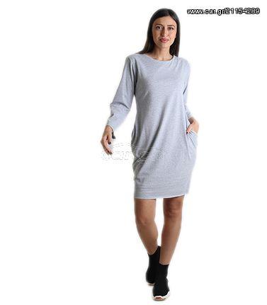 Φόρεμα με τσέπες στο πλάι (Γκρι) - € 21 EUR - Car.gr ee2fcff3ef8