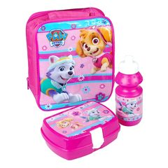 97c270ff8c8 Nickelodeon Paw Patrol Official Lunchbag Lunch Bag Case with Sandwich Box  and Drinking Bottle Set for
