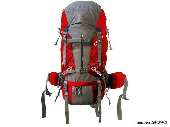ca105d4ddc Σακίδιο πλάτης κόκκινο PEAK 65lt για ορειβασία-πεζοπορία-camping Παλιά  Σχεδίαση