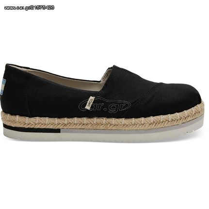 designer fashion 534a7 98dd2 TOMS Black Canvas Platform Γυναικείες εσπαντρίγιες 10013501 - € 42 - Car.gr