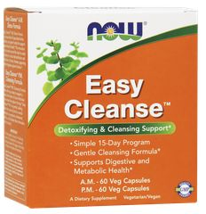 NOW Foods - Easy Cleanse™, A.M. 60 Vcaps, P.M. 60 Vcaps