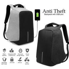 8f061502a0 Αντικλεπτικό Αδιάβροχο Σακίδιο Πλάτης με Eνσωματωμένη Θύρα Φόρτισης USB  AntiTheft Backpack