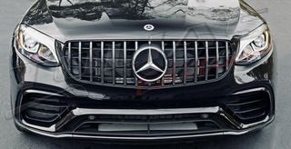 MERCEDES BENZ GLE CLASS SPORT GRILLE BLACK-CHROME look GT / ...