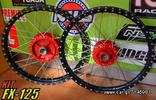 FX-125 WHEELS LIGHTWEIGHT BLACK-RED (EXCEL+ HOLES)