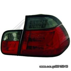 BMW SERIES 3 E46 ΦΑΝΑΡΙΑ ΠΙΣΩ  LED RED-SMOKE GREY (ΚΟΚΚΙΝΑ-Γ...