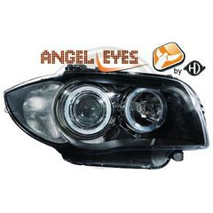 BMW SERIES 1 E81/E87 ANGEL EYES ΜΑΥΡΑ/BLACK